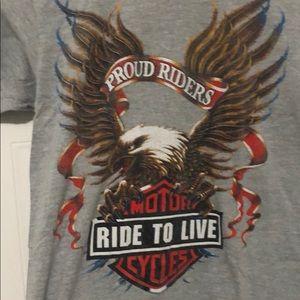 Grey Harley Davidson tshirt